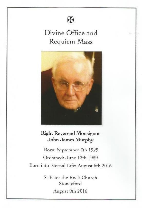 Death of Father John M...