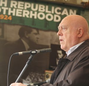 Me speaking in South Derry