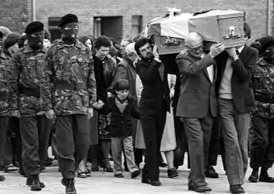 Owen Carron at Bobby Sands funeral
